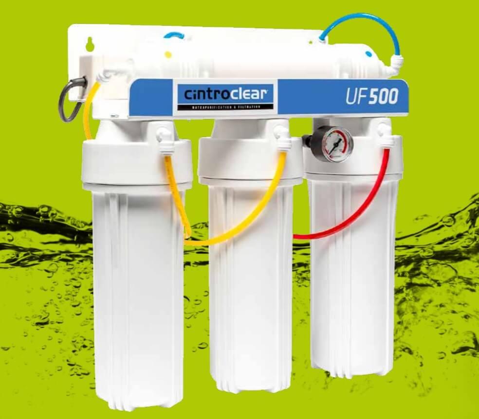 Filtre à eau, Filtration LED UV, filtre UF 500, Cintroclear