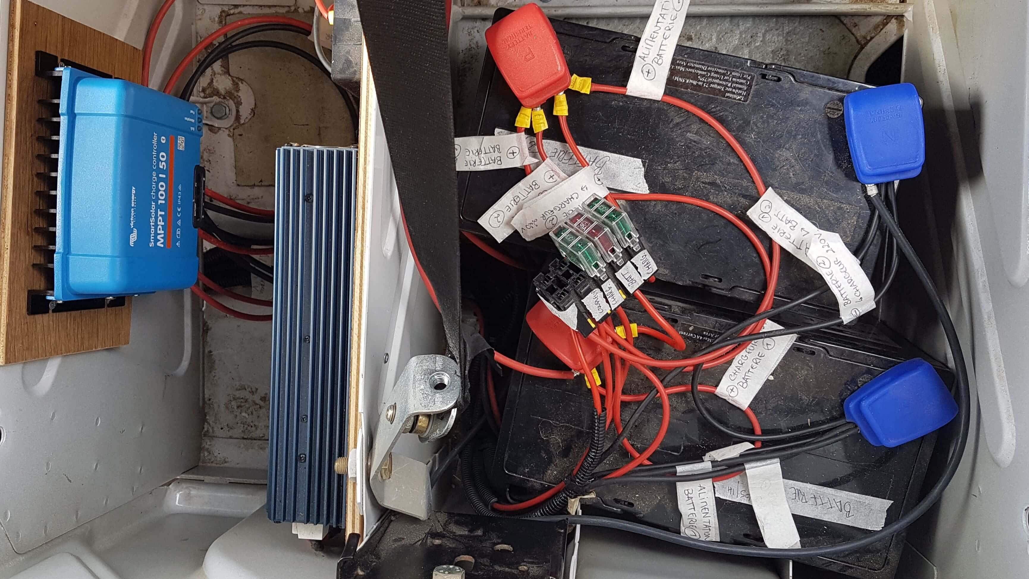 Installation de batteries auxiliaires