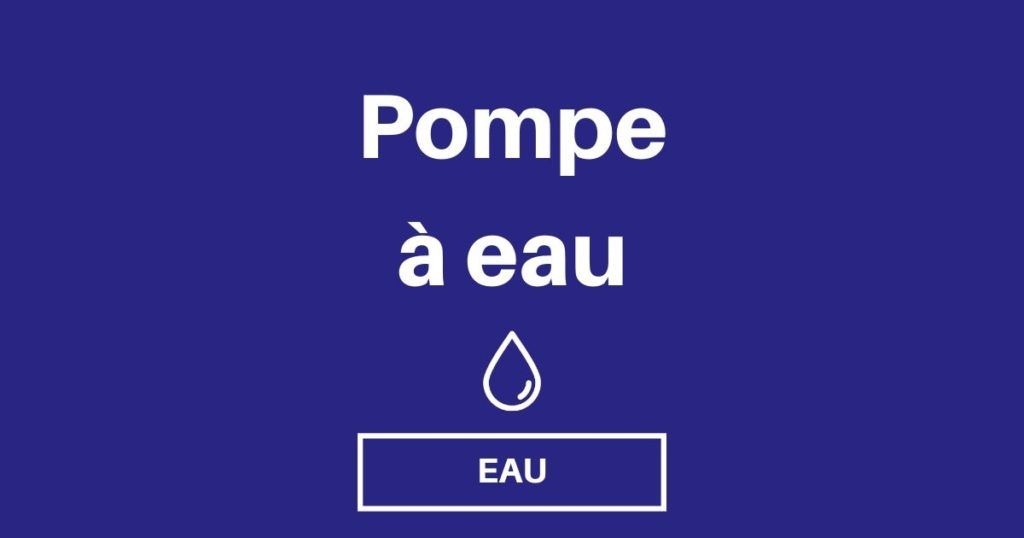 choisir pompe a eau og