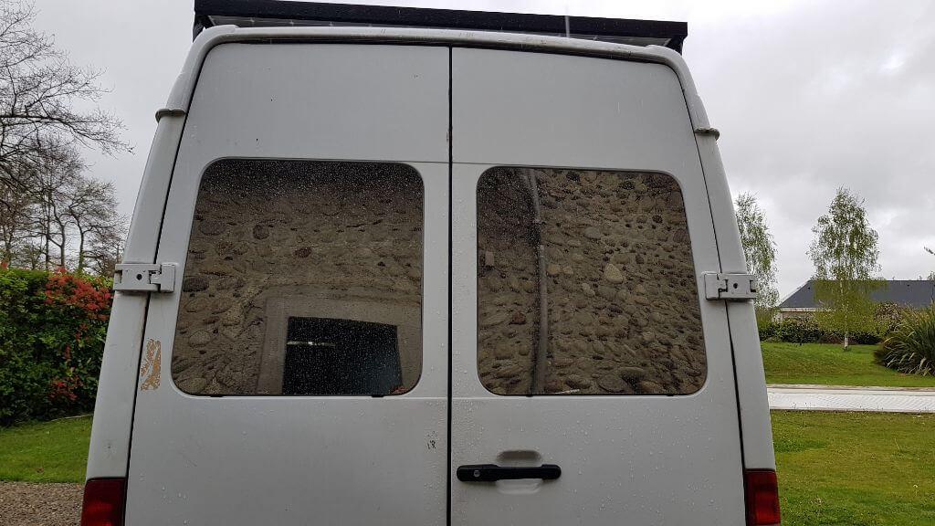 fenêtre arrières, vitres, fourgon