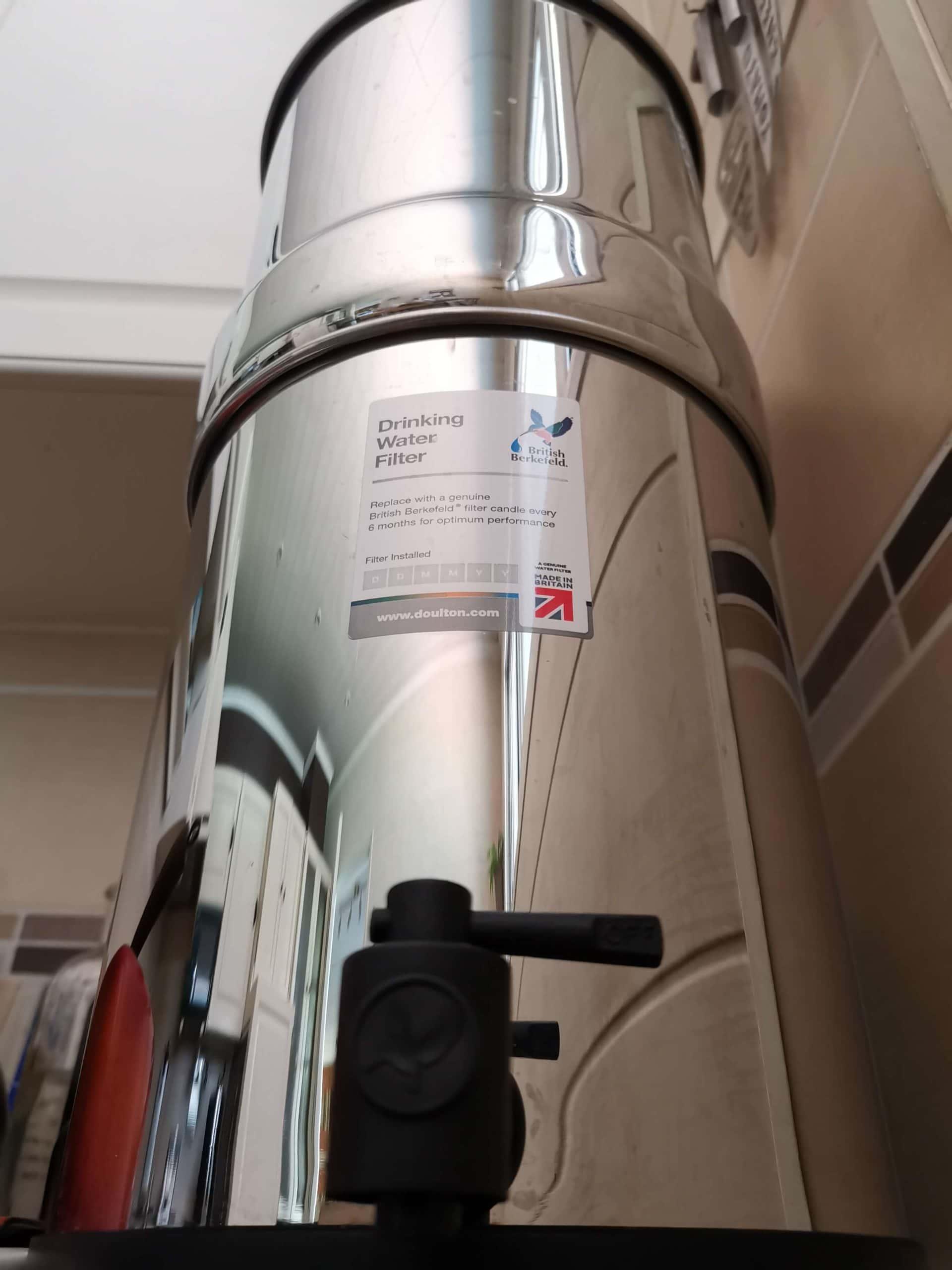 filtre à gravité doulton, nettoyer son filtre à gravité