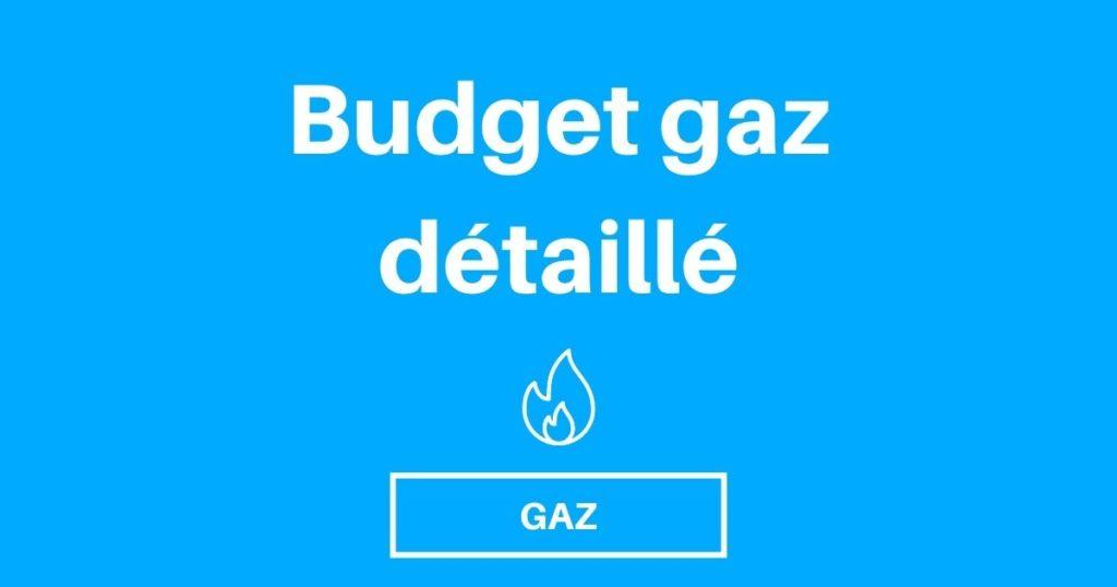 Budget gaz