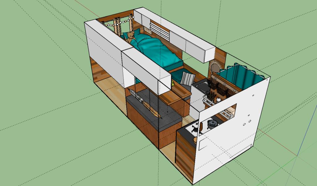 Plan 3D Initial de notre fourgon
