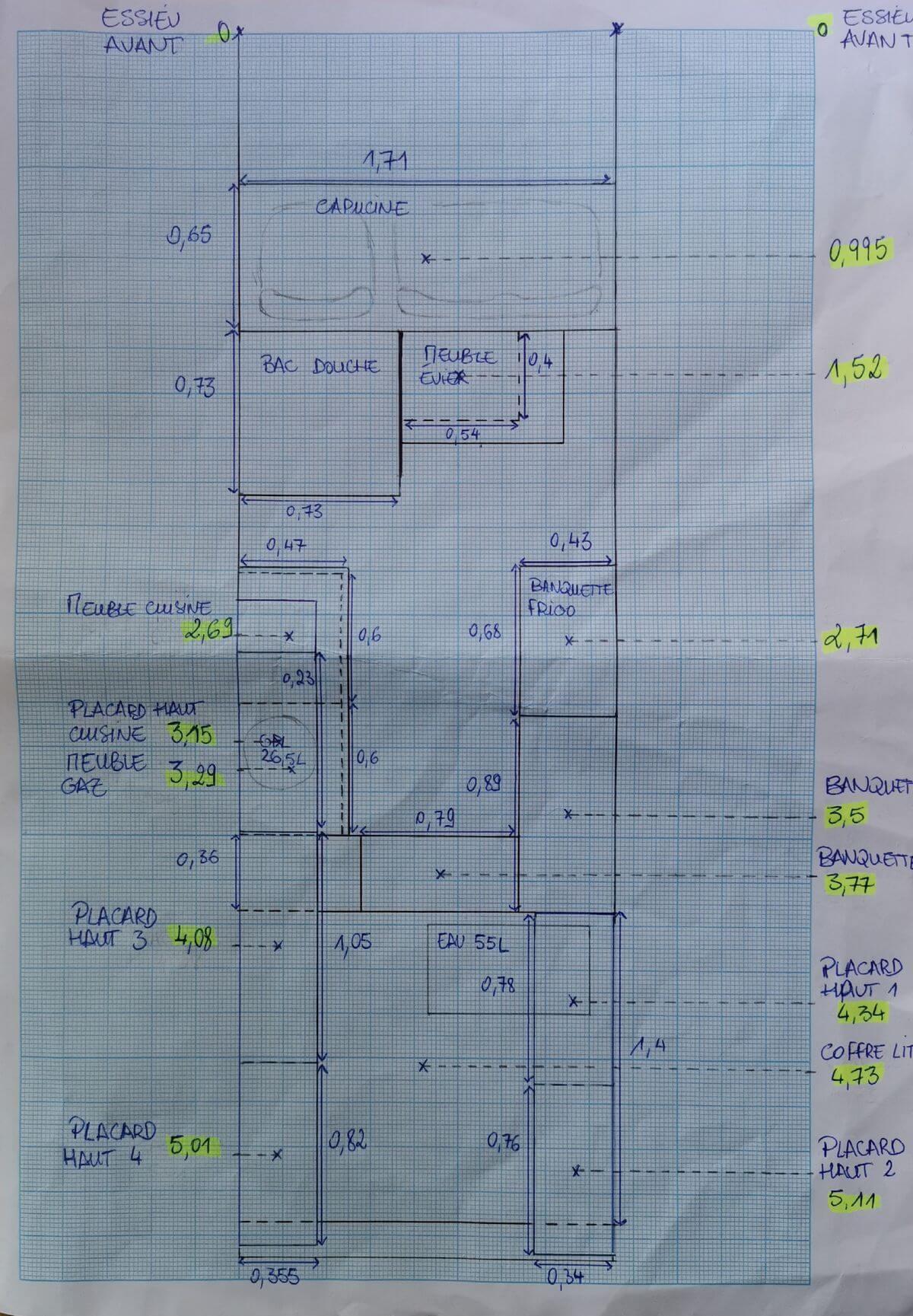 Plan a la main, plan côté aménagement vasp, plan répartition des charges