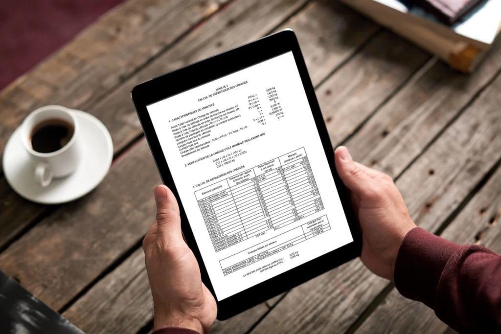 Tableau répartition des charges, répartition des charges VASP