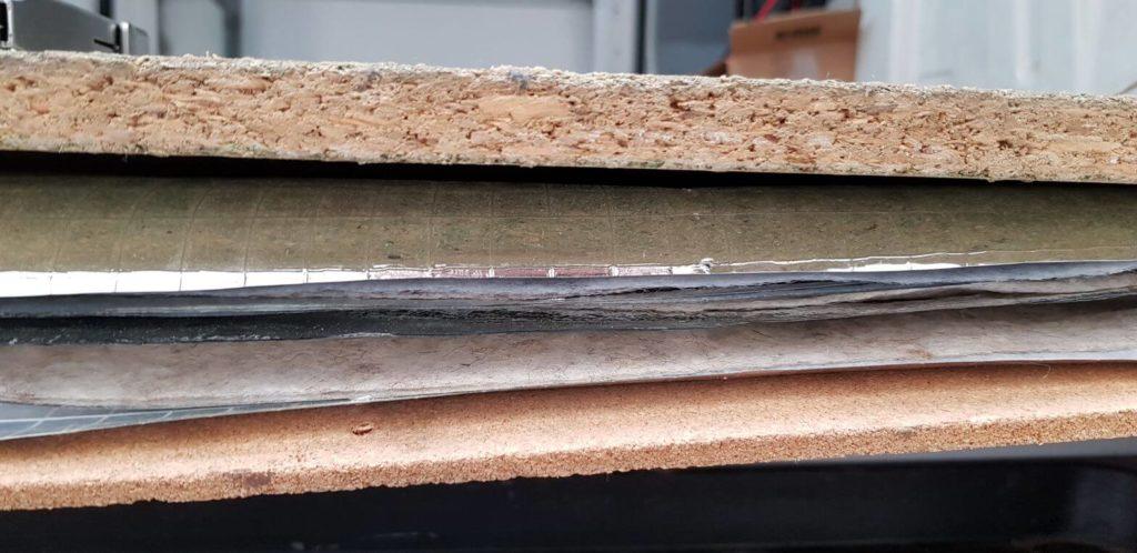 Medium 10mm multicouche et liège isolation sol fourgon