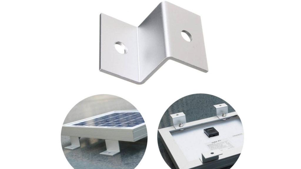 support alu z fixation panneau solaire